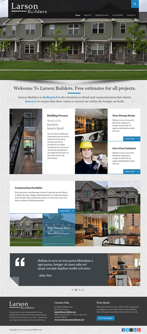 Home Construction Website Design by Construction Home Website Design Thepixel