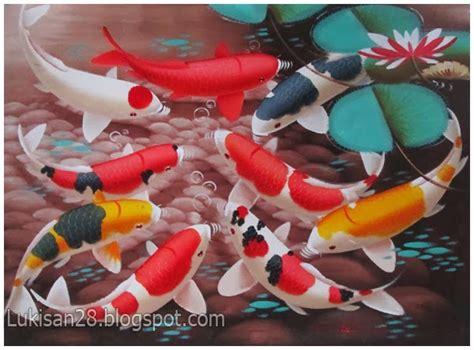 makna tato ikan koi pusat jual lukisan termurah lukisan koi