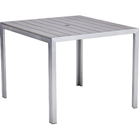 wyndham brushed aluminium 4 person patio dining table