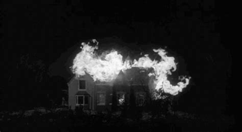 house on fire gif black and white gif find share on giphy