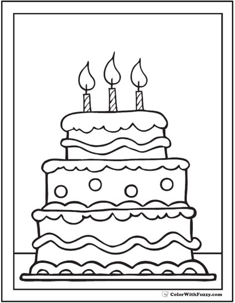 coloring page for birthday cake 28 birthday cake coloring pages customizable pdf printables