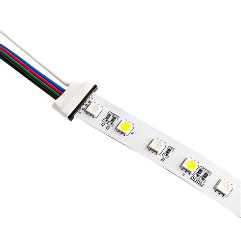 5 Contact 14mm Flexible Light Strip Pigtail Connector For Led Light Connectors