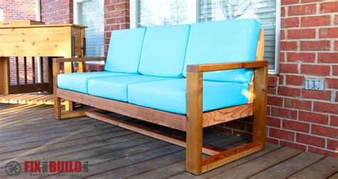 diy outdoor sofa how to build a diy modern outdoor sofa fixthisbuildthat