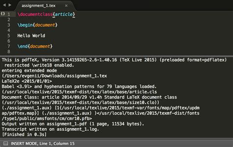 latex tutorial pdf windows latex and linux terminal commands