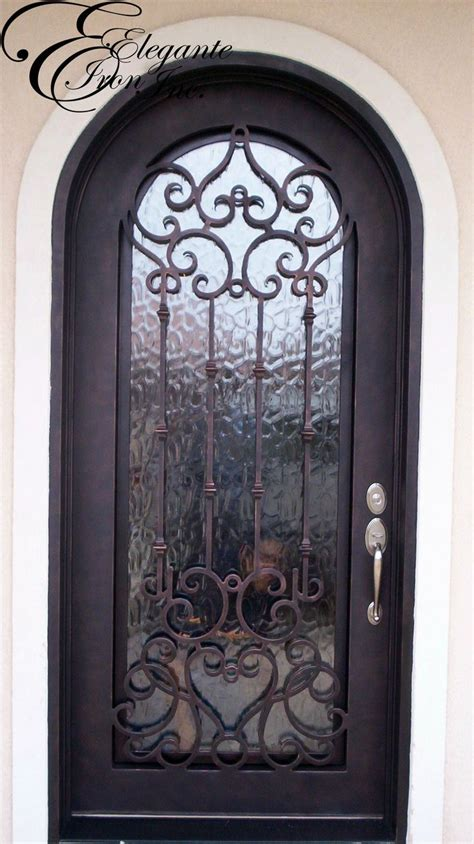 Front Door Iron Custom Wrought Iron Front Door Single Doors