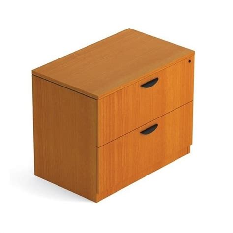 Wood Lateral File Cabinet With Lock Offices To Go 2 Drawer Lateral Wood File With Lock In Mahogany Finish