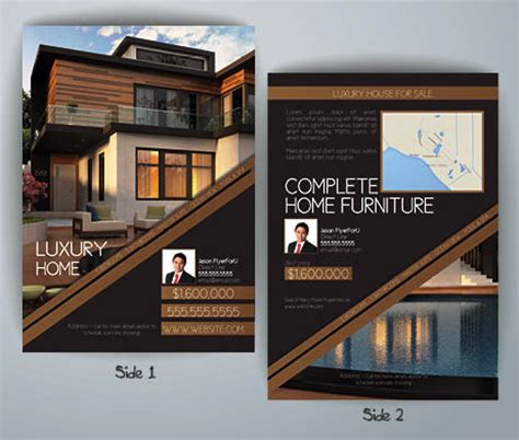 luxury homes flyer template flyerforu com