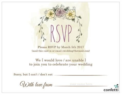 Wedding Planner Requirements by 8 Things To Include In Your Wedding Invitations Confetti