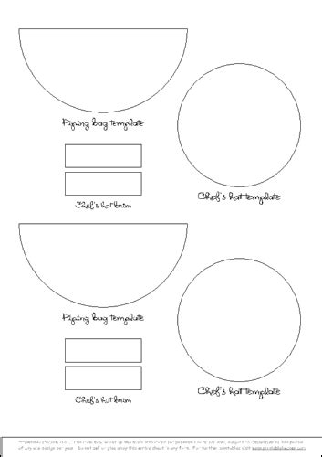 chef hat printable template 8 best images of sheet cake templates printable cake