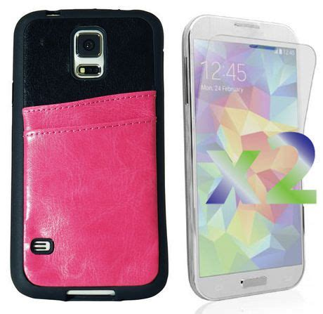 Garskin Samsung Galaxy S5 Oh No exian leather with card slot for samsung galaxy s5