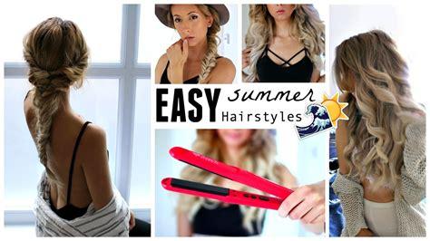 Hair Styles For Vacation | easy cute summer hairstyles beach waves braid