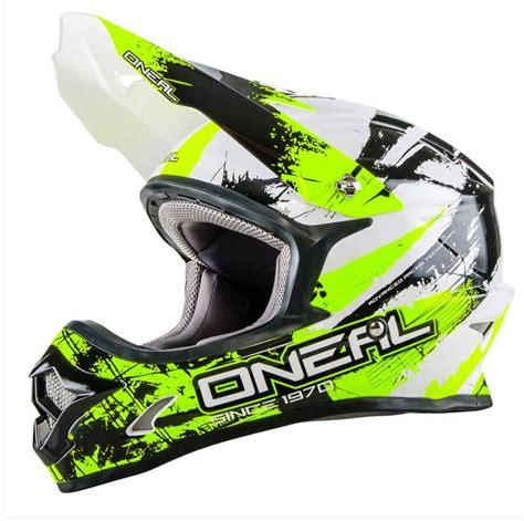 yellow motocross helmets oneal 2017 3 series shocker motocross helmet black neon