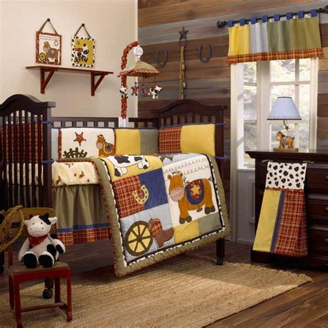 baby boy children room in cowboy west style