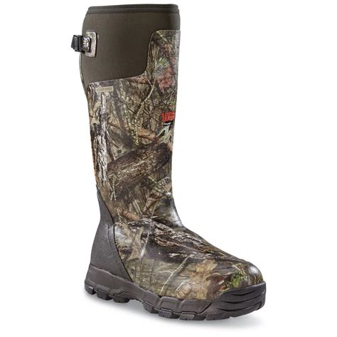 rubber boots hunting lacrosse men s alphaburly pro rubber waterproof hunting