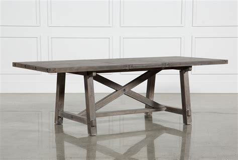gray rectangle dining table jaxon grey rectangle extension dining table living spaces