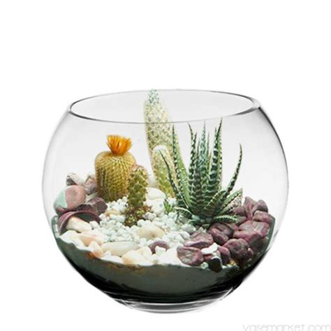 home bubble fish l 10 quot wide flower centerpiece glass bubble vase fish bowl