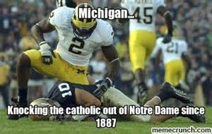 Notre Dame Football Memes - 1991 michigan vs notre dame mgoblog