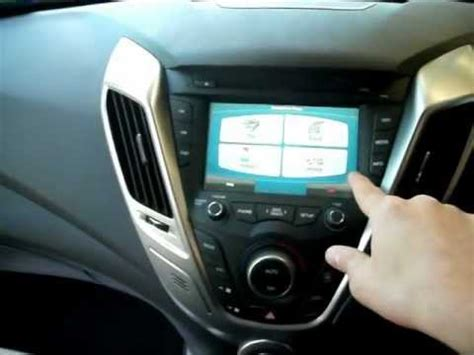 hyundai veloster touch screen 2012 hyundai veloster touch screen navigation for
