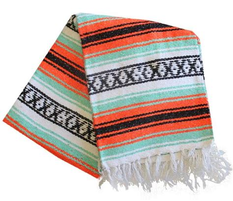 Handmade Mexican Blankets - mex southwest tribal blanket