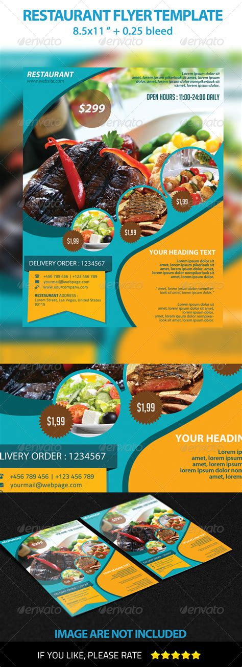 best flyer design graphicriver restaurant flyer template graphicriver
