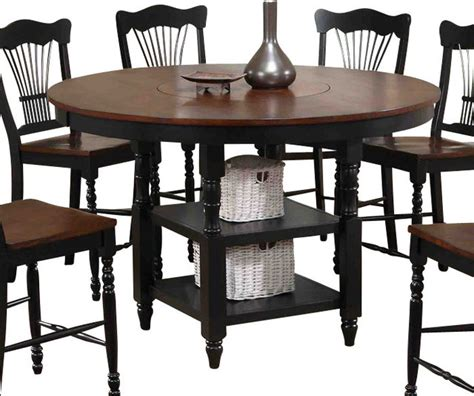 canterbury harvest counter height table with lazy susan