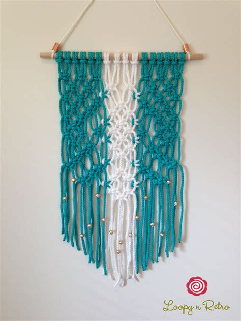 Unique Diy Home Decor Modern Macrame Wall Hanging Knotted Wall Art Retro