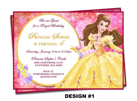 And The Beast Birthday Card Template by And The Beast Invitation Invitation Disney