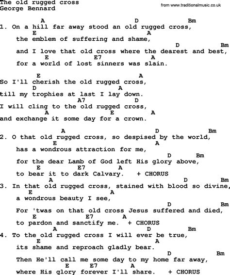 lyrics for the rugged cross rugged cross song roselawnlutheran