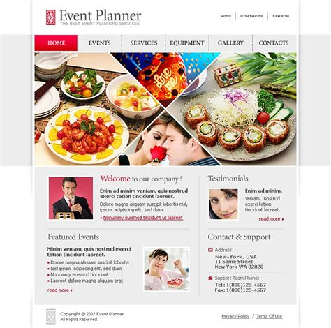 event planner website template 15582