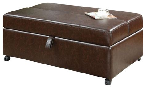 bench on casters coaster storage bench with fold out sleeper and casters in