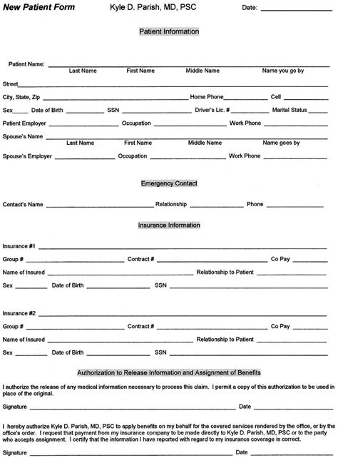 patient information template new patient information form template go search