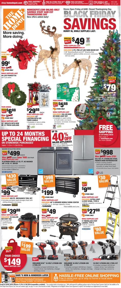 black friday christmas tree sales home depot home depot black friday ad 2016