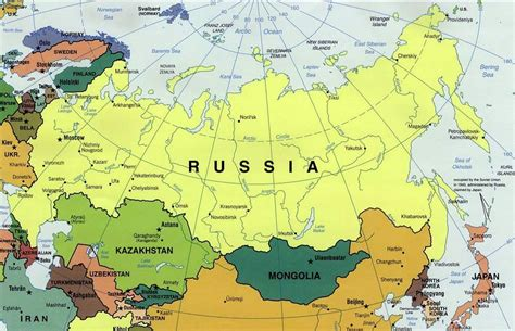 russia on world map 2015 russia and the republics political map