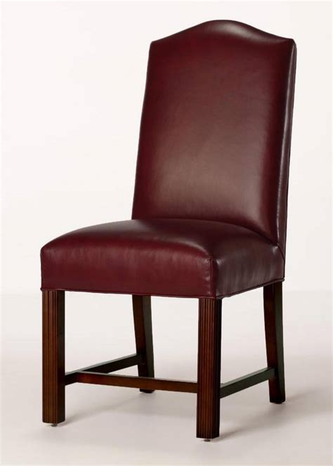 camel leather dining chair leather camel back chippendale dining chair with seat