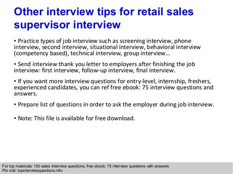 retail sales supervisor questions and answers