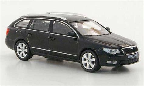 skoda superb 2009 combi black abrex diecast model car 1 43