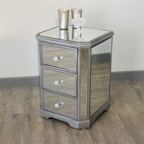 Small Dining Room Table Sets The Angelina Range Mirrored Bedside Table Melody Maison 174