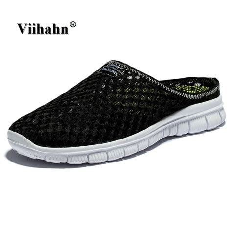 Sendal Anti Slip viihahn s slippers casual shoes flat sandals breathable mesh shoes aqua anti slip