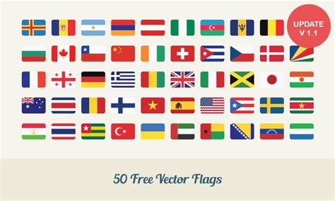 Flags Of The World To Download Free | free download 50 flat vector flags dreamstale