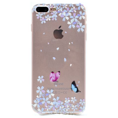 Casing Antishock Iphone 8 8 Plus Anticrack Soft Painted Slim Soft Tpu Rubber Clear Anti Shock Cover
