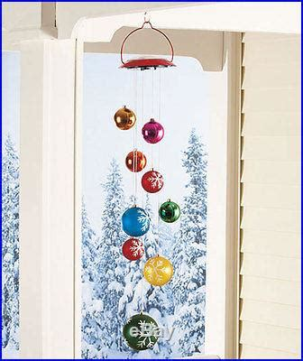 solar power hanging christmas balls solar lighted hanging ornament mobile outdoor decoration decor