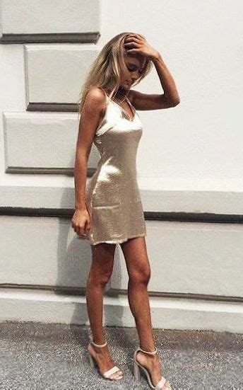 satin mini dress strappy heels cocktail party outfit