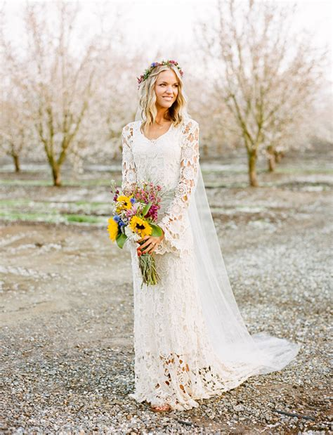 sensational bohemian dreamy california orchard rustic bohemian wedding
