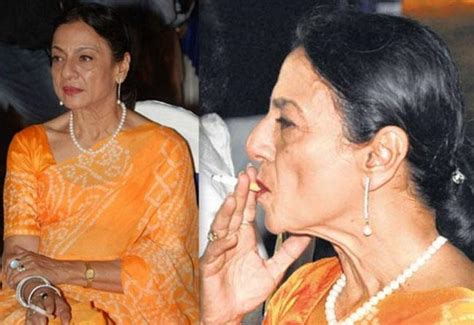 biography of hindi film actress tanuja smoking celebrities let s see bollywood celebrities who
