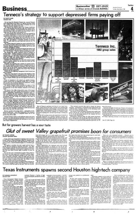 houston chronicle business section tenneco s strategy to support depressed firms paying off