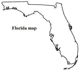 state of florida map outline florida state flag coloring page clipart best