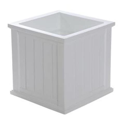White Planters Home Depot by Mayne Cape Cod 20 In Square White Plastic Planter 4838 W The Home Depot