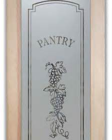 pantry doors glass etched frosted grapes strand a