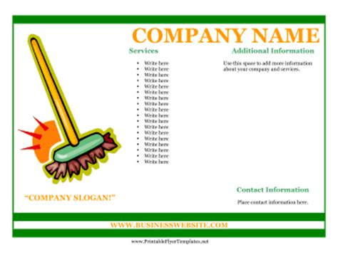 free printable business flyers templates sle flyer for cleaning business