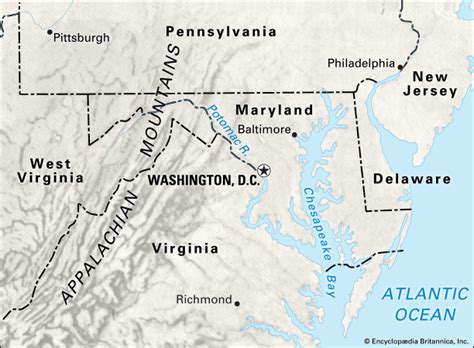 washington dc political map washington d c location in relation to and